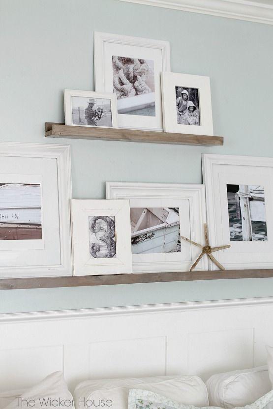 Ideas para decorar con estantes para cuadros - Ideas para decorar pared ...