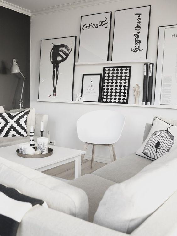 Ideas para decorar con estantes para cuadros for Ar 15 decorations