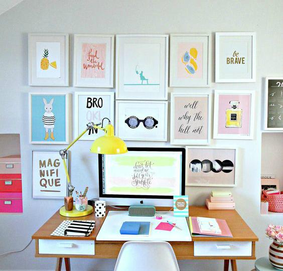 Ideas para decorar paredes con marcos y cuadros de colores - Cuadros para la pared ...