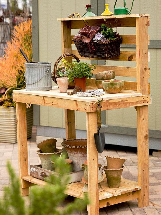 Ideas para una mesa de trabajo de jardiner a for Mesa de trabajo jardineria