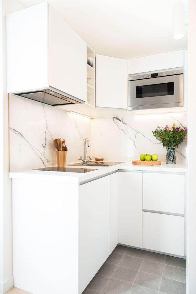 7 mini cocinas funcionales y con mucho estilo - Amenager un studio de 25m2 ...