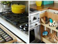 imagen Cajones y estanterías extraíbles para una cocina funcional