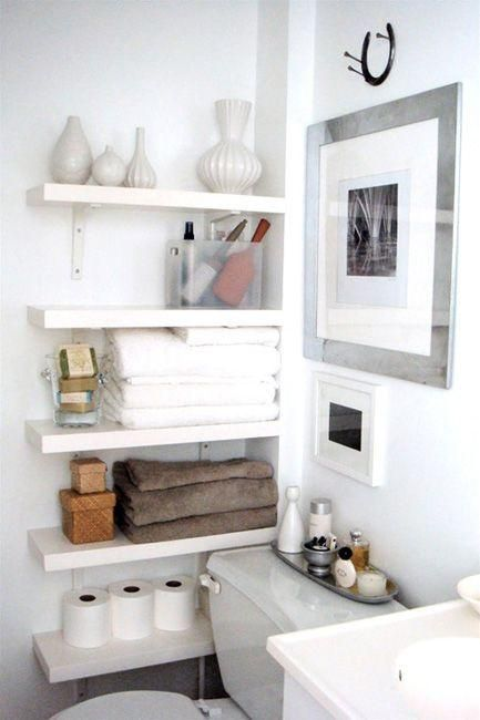 Armarios De Baño Colgados:Small Space Bathroom Storage Ideas