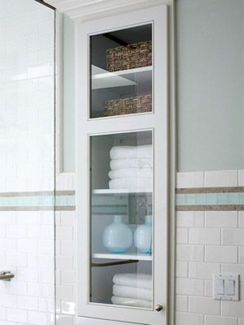 Estanterias Para El Baño:Recessed Bathroom Wall Storage