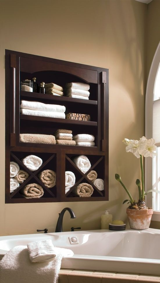 Estanterias Para El Baño:Bathroom Storage Between Wall Studs