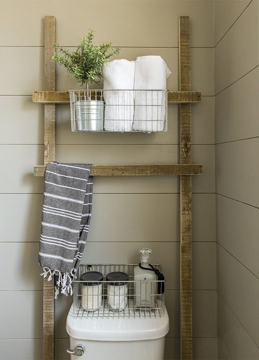 Armarios De Baño De Pared:Over Toilet Storage Ladder