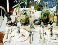 imagen 11 ideas para decorar la mesa con terrarios