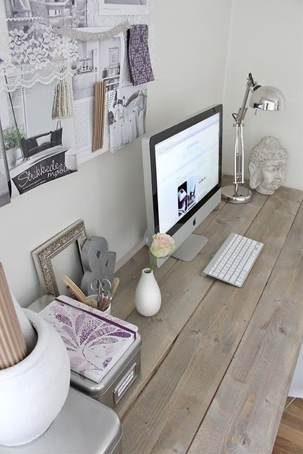 Baño Para Torta Sencillo:Rustic Office Desk Idea