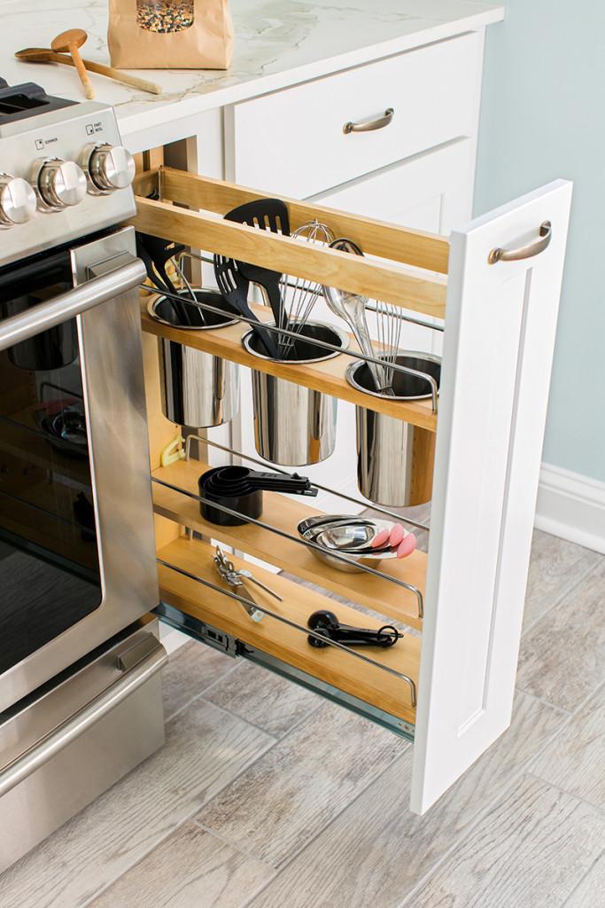 Cajones y estanter as extra bles para una cocina funcional - Estanterias para cocina ...