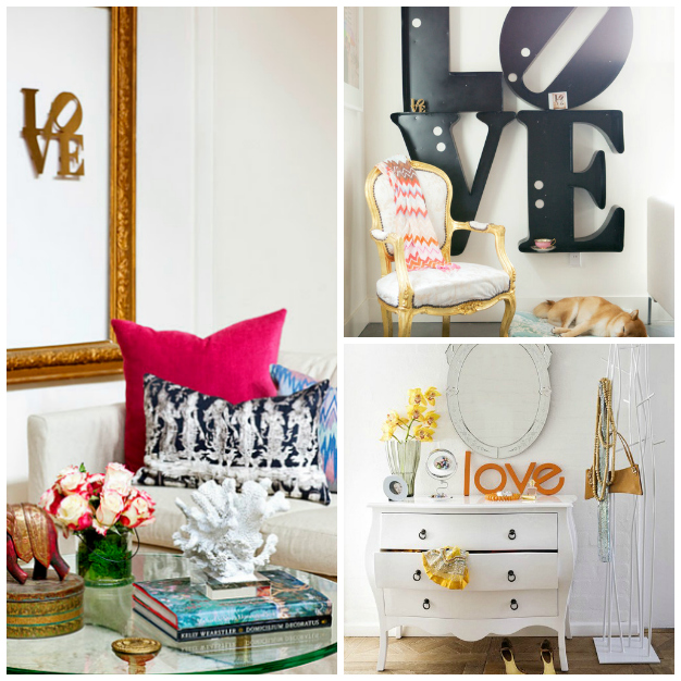 13 ideas deco con la palabra love