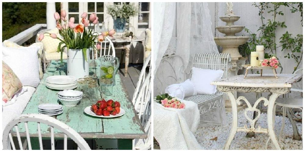 Patios y terrazas en estilo shabby chic - Lamparas estilo shabby chic ...