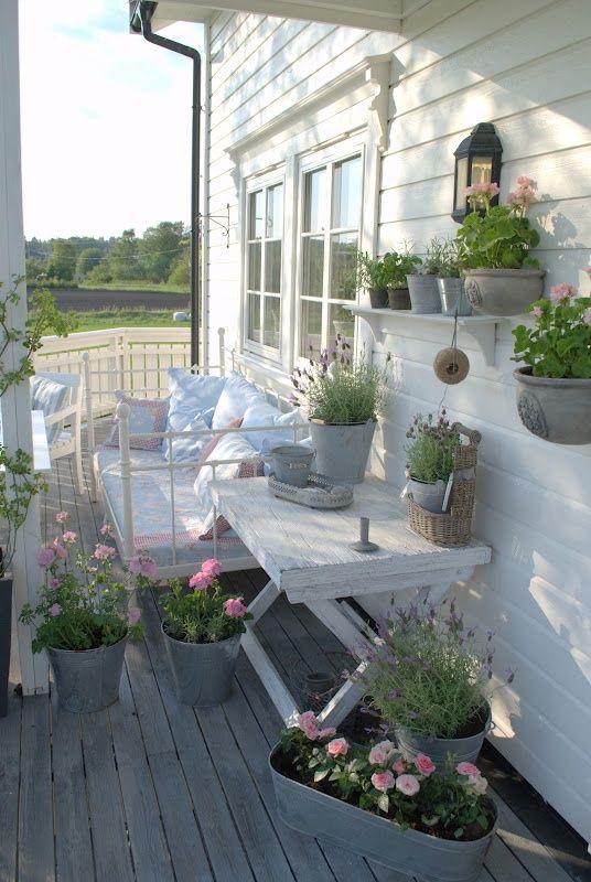 Patios y terrazas en estilo shabby chic - Terrazas con estilo ...