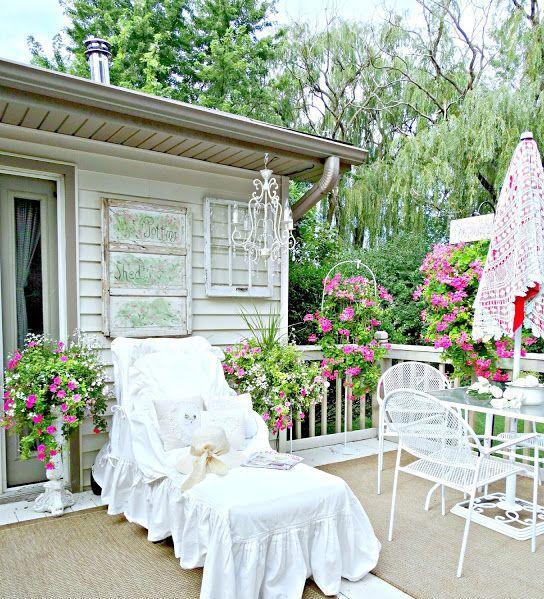 Patios y terrazas en estilo shabby chic - Casas decoradas estilo shabby chic ...