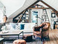 imagen Cómo armar una sala de estar en áticos abuhardillados