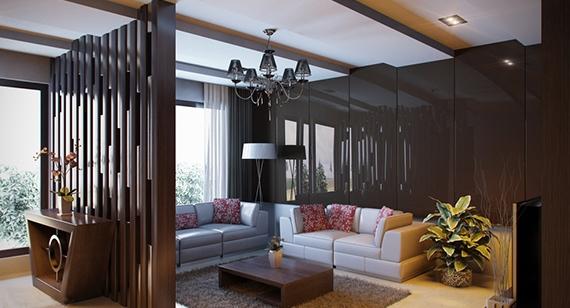 Ideas de separadores de ambientes para la sala de estar - Separadores de ambientes de cristal ...