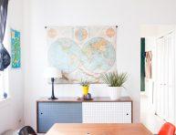 imagen 17 ideas para decorar con mapas