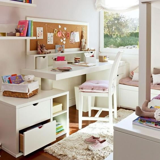 25 Kids Study Room Designs Decorating Ideas: Cómo Decorar Una Zona De Estudio Para Adolescentes