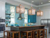 imagen Una cocina en color turquesa