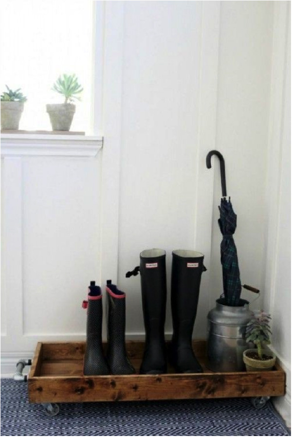 10 ideas para almacenar zapatos en el recibidor de la casa
