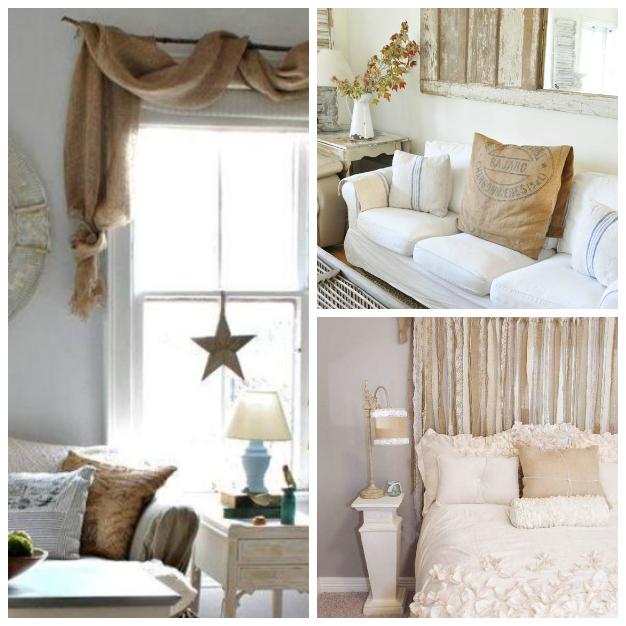 Ideas para decorar tu casa con tela de arpillera - Decorar muebles con tela ...