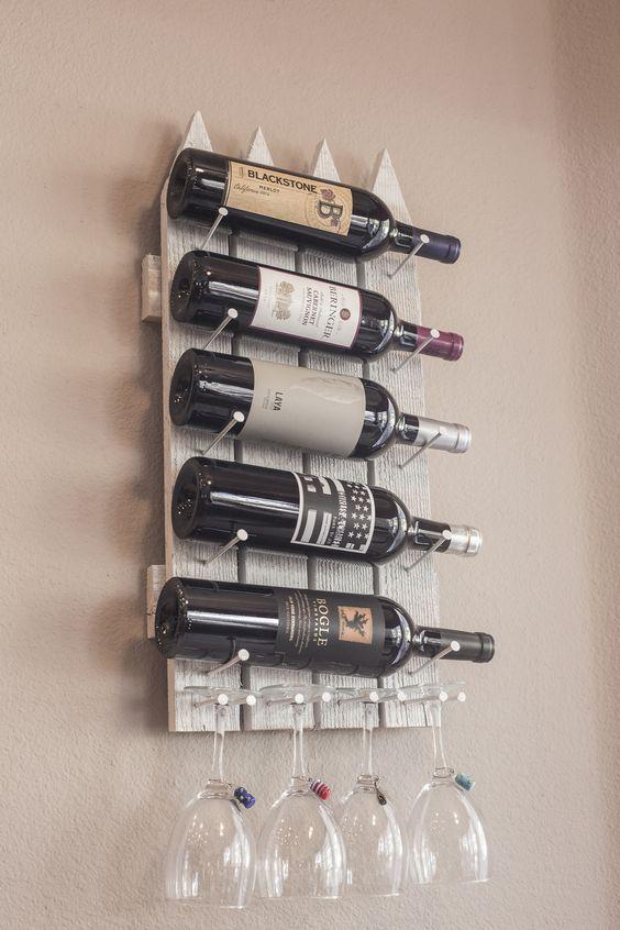 Ideas originales para almacenar vino en casa - Muebles para poner botellas de vino ...