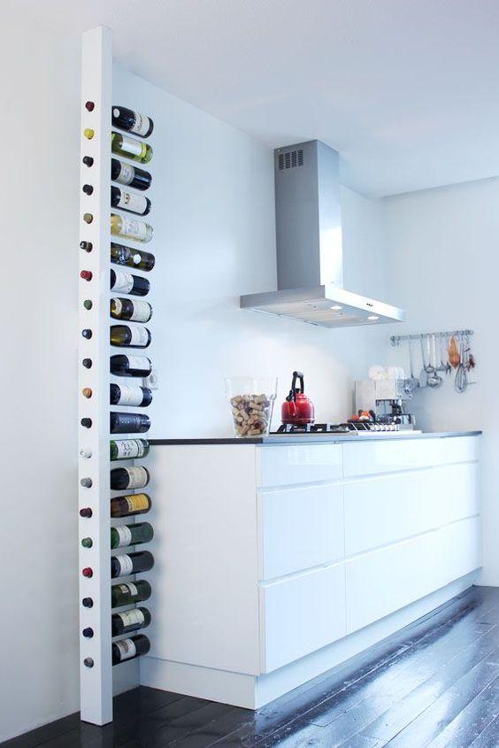 Ideas originales para almacenar vino en casa - Botelleros de obra ...