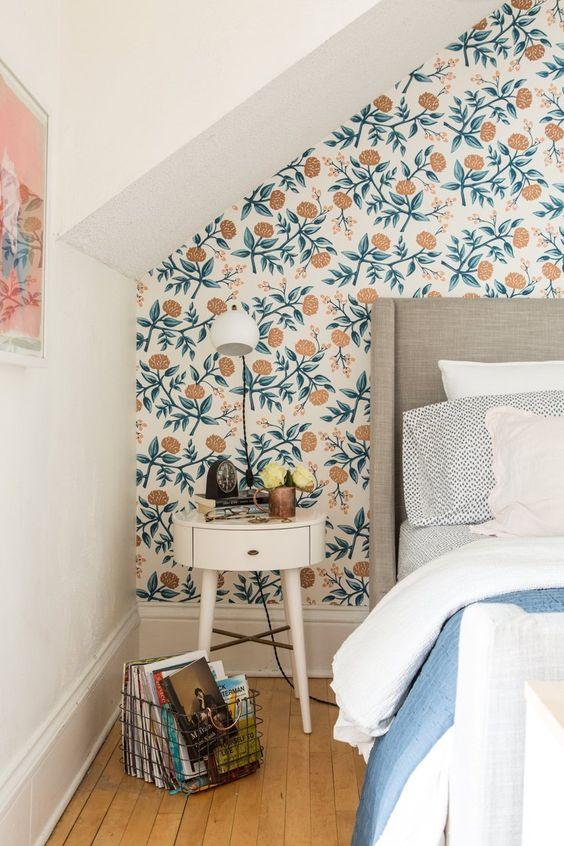 Ideas para resaltar una pared con papel pintado - Ideas papel pintado ...