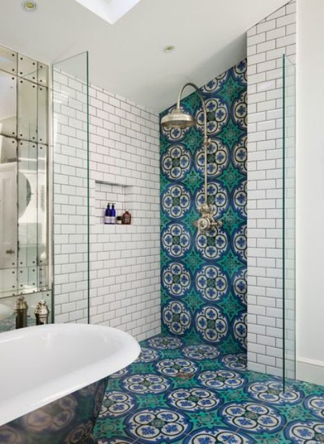 Baños Estilo Marroqui:Bathroom Floor Tile for Shower