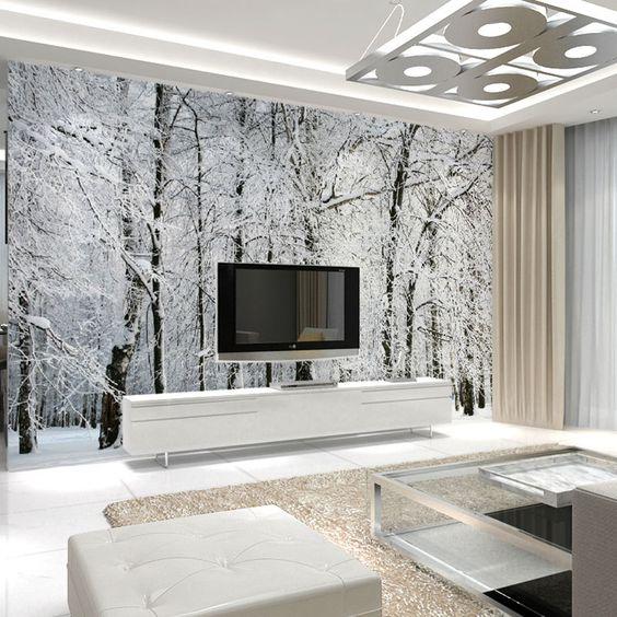 Propuestas para decorar paredes con murales fotogrficos