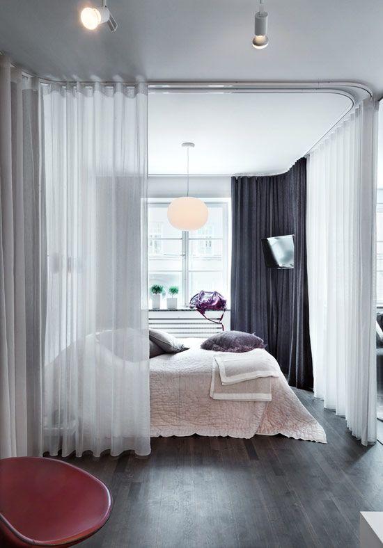 Cortinas ideales para separar ambientes de forma econ mica - Formas de cortinas ...