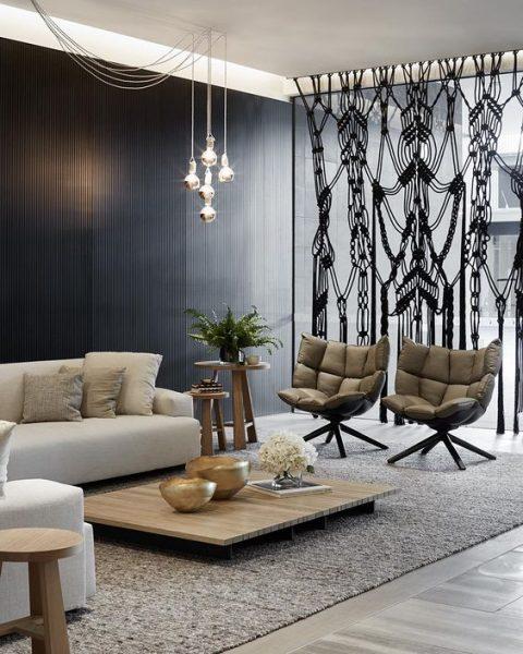 Propuestas para separar ambientes con cortinas 09 gu a - Cortinas para separar ambientes ...