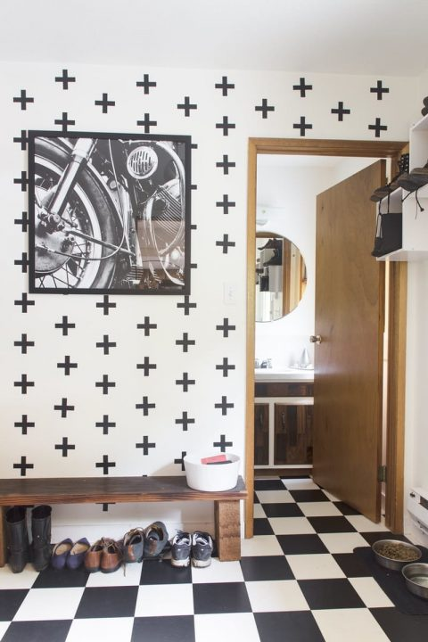 10 recibidores decorados con papel pintado 07 gu a para decorar - Papel pintado para recibidores ...