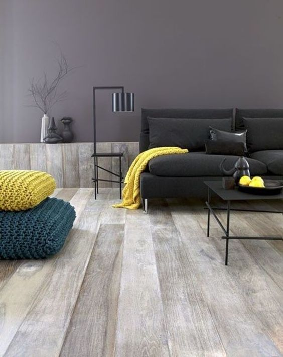 Sala De Estar Gris ~ Ideas deco para una sala de estar en gris y amarillo Artículo