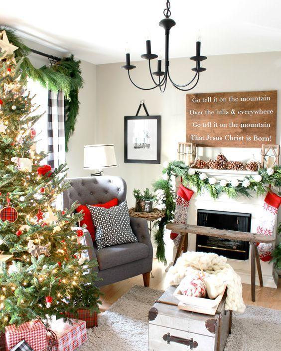 Propuestas para decorar tu sala de estar esta navidad for Como decorar una sala sencilla y bonita