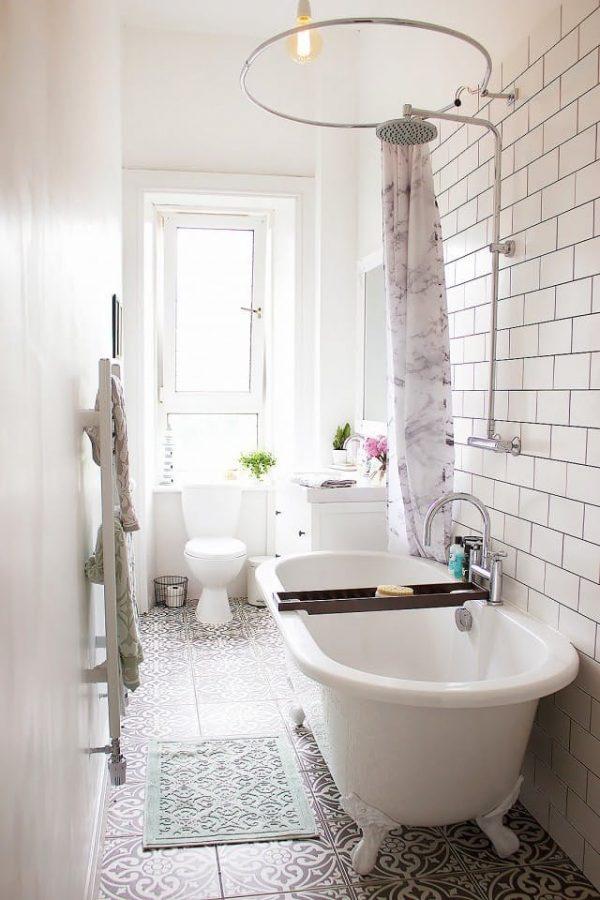 15 cuartos de ba o peque os con mucho estilo - Laminas para cuartos de bano ...
