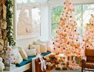 imagen El color rosa cuarzo en la decoración navideña