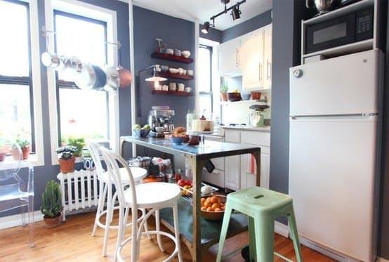 Ideas para organizar una cocina peque a for Estantes para cocina pequena