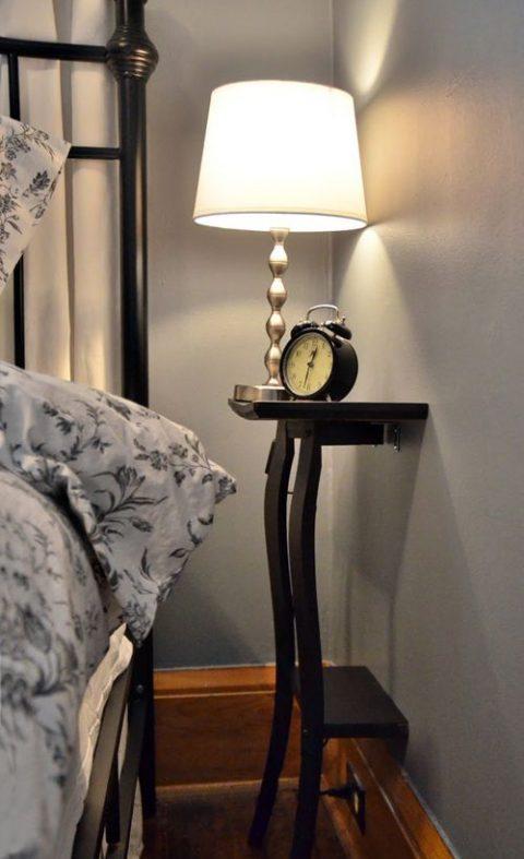 Mesillas de noche para habitaciones pequenas 12 gu a para decorar - Mesillas pequenas ...