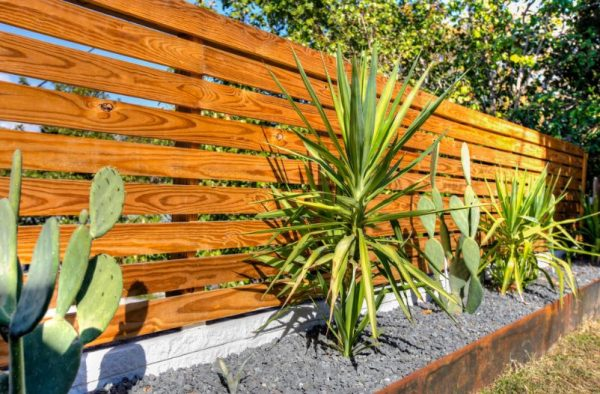 Ideas de cercas de jard n de estilo moderno for Cercados jardin