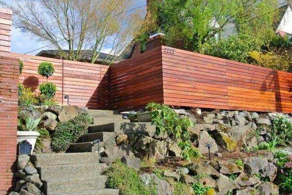 Cercas de jardin de estilo moderno 06 gu a para decorar - Cercas de jardin ...