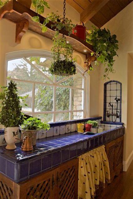 Ideas de encimeras de azulejos para decorar la cocina - Azulejos rusticos para cocinas ...