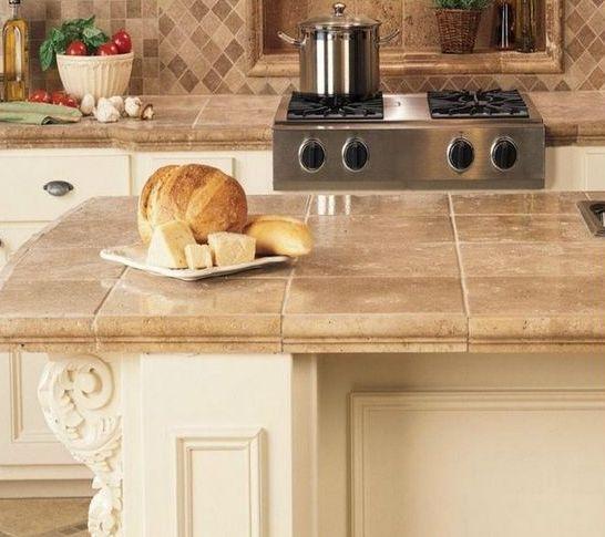 Ideas de encimeras de azulejos para decorar la cocina - Azulejos cocina ...