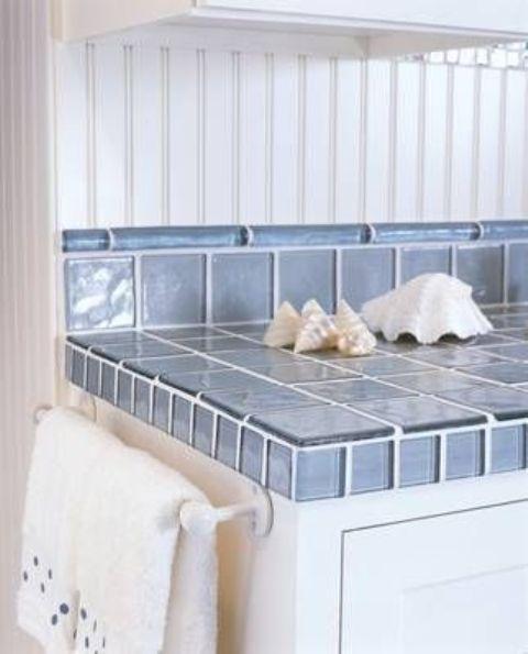 Ideas de encimeras de azulejos para decorar la cocina - Azulejos blancos cocina ...