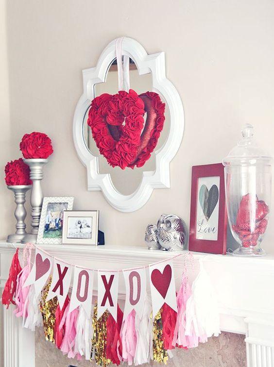 Ideas decorativas para celebrar san valent n en casa - Como hacer adornos de san valentin ...