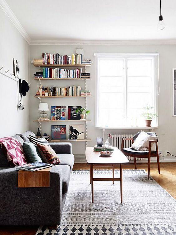 Ideas para decorar una peque a sala de estar for Muebles para sala de estar pequena