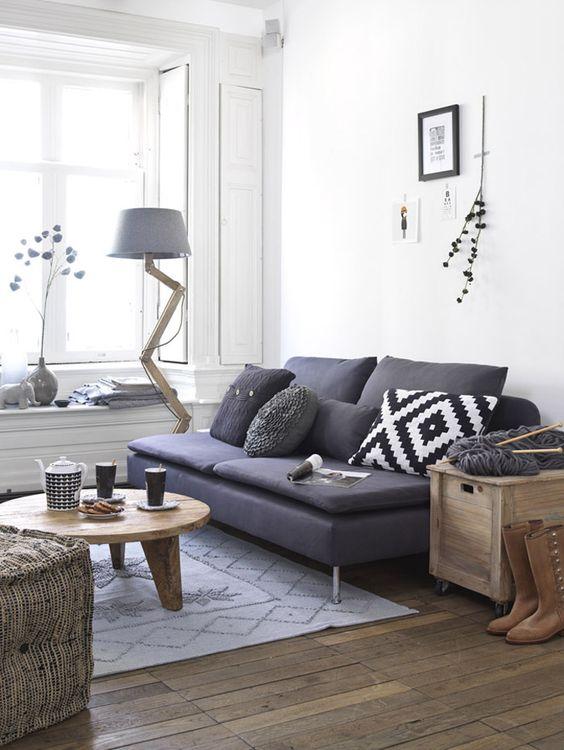 Ideas para decorar una peque a sala de estar for Sofas grises decoracion