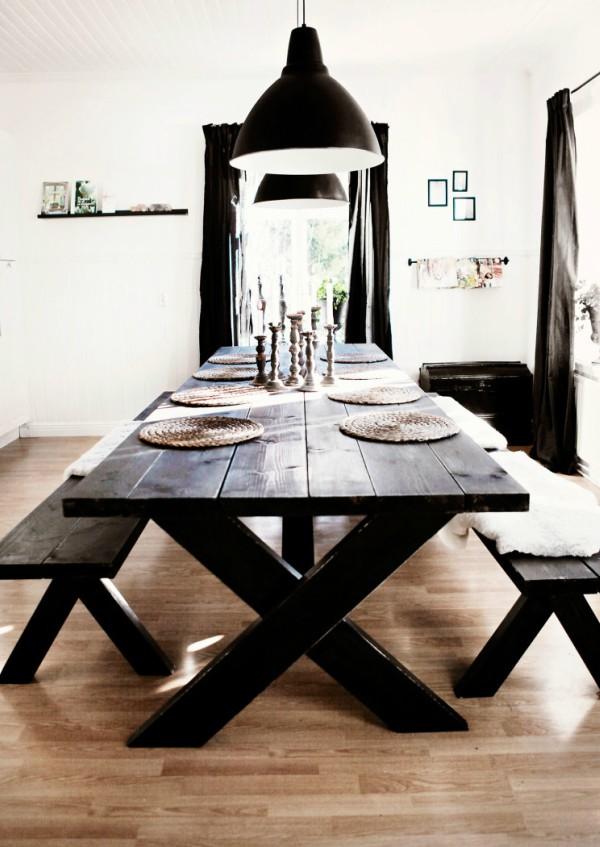 Mesas estilo picnic para el comedor
