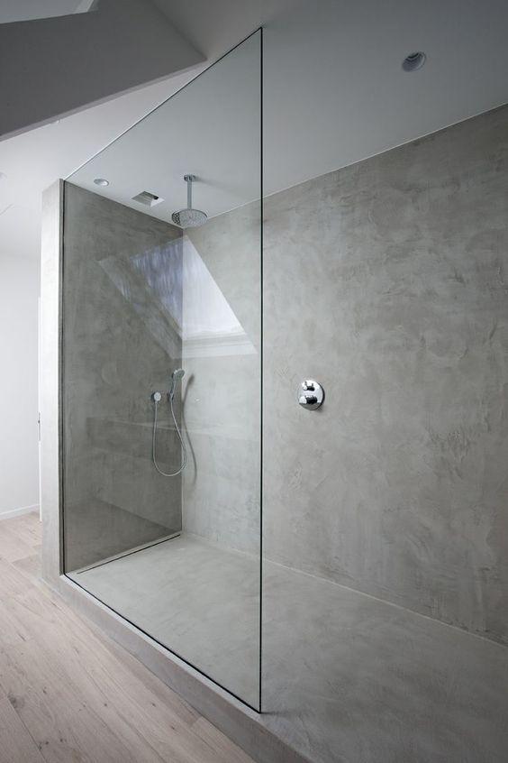 Propuestas para tener una ducha sin plato en tu ba o - Modelos de mamparas de ducha ...