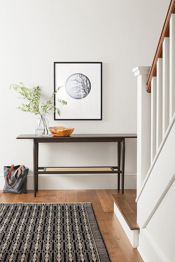 Ideas para tener una mesa estilo consola en el recibidor - Recibidores minimalistas ...