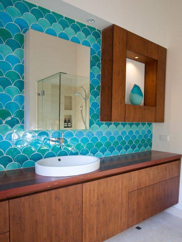10 incre bles azulejos para el cuarto de ba o - Azulejos de pared ...